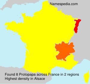 Surname Protopapa in France