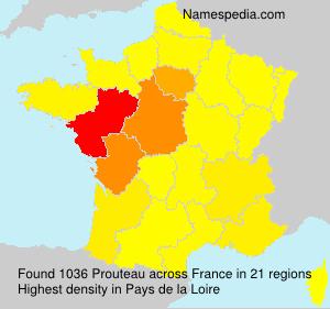 Familiennamen Prouteau - France