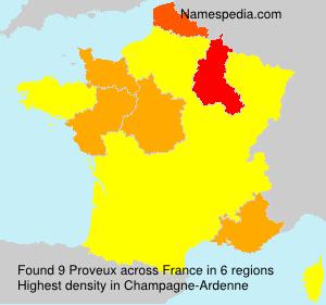 Familiennamen Proveux - France