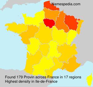 Familiennamen Provin - France