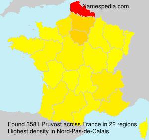 Surname Pruvost in France
