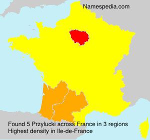 Surname Przylucki in France