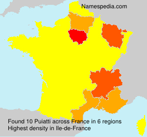 Surname Puiatti in France
