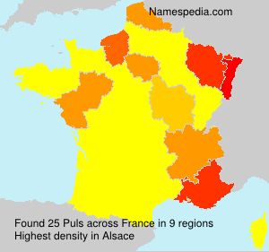 Surname Puls in France