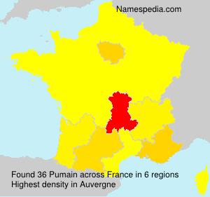 Familiennamen Pumain - France