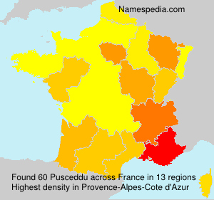 Surname Pusceddu in France