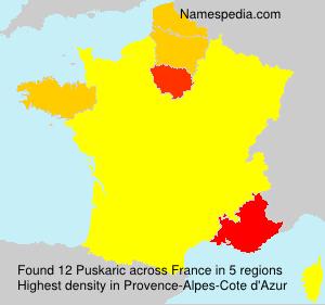 Surname Puskaric in France