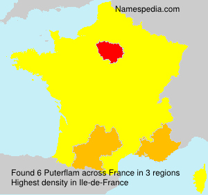 Surname Puterflam in France