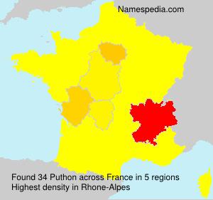 Familiennamen Puthon - France