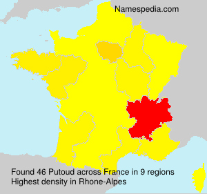 Surname Putoud in France