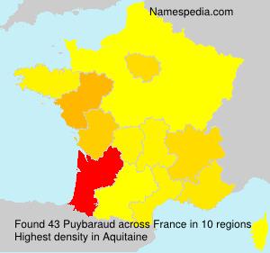 Familiennamen Puybaraud - France