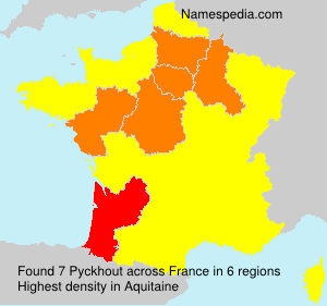 Surname Pyckhout in France
