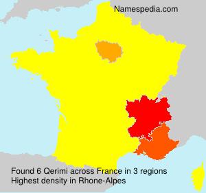 Surname Qerimi in France