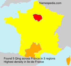Surname Qing in France