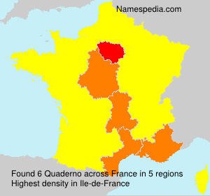 Surname Quaderno in France