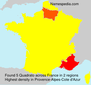 Surname Quadrato in France