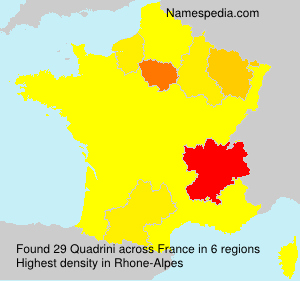 Surname Quadrini in France