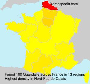 Familiennamen Quandalle - France