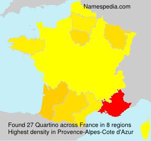 Familiennamen Quartino - France