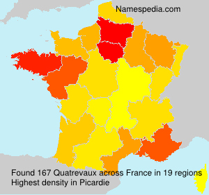 Surname Quatrevaux in France