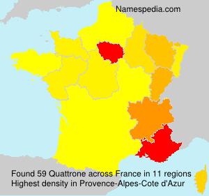 Familiennamen Quattrone - France
