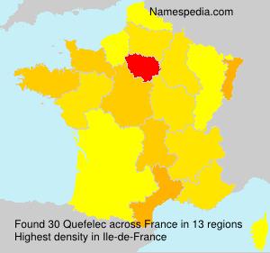 Surname Quefelec in France