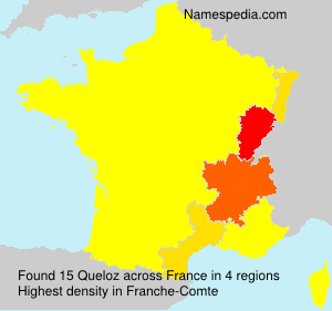 Surname Queloz in France