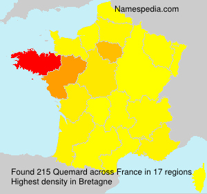 Surname Quemard in France