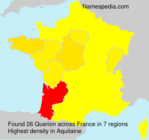 Surname Querion in France