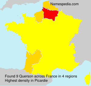 Surname Querson in France