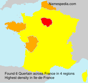 Surname Quertain in France