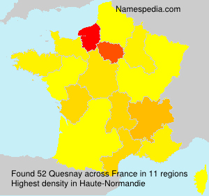 Surname Quesnay in France