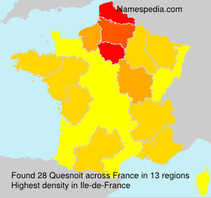 Surname Quesnoit in France