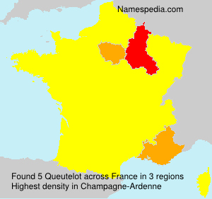 Surname Queutelot in France