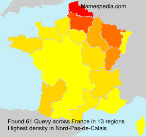 Surname Quevy in France