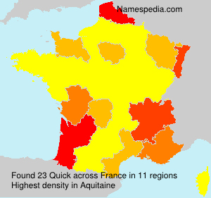 Familiennamen Quick - France