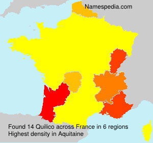 Familiennamen Quilico - France