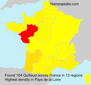 Surname Quillaud in France