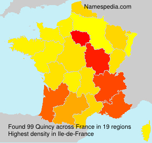 Surname Quincy in France