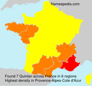 Surname Quinlan in France