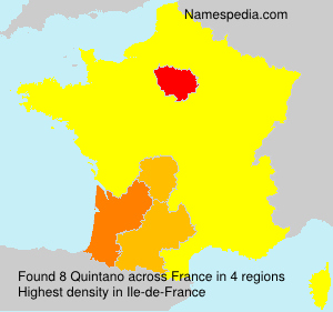 Surname Quintano in France
