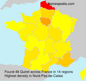 Surname Quiret in France