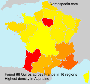 Surname Quiros in France