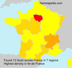 Surname Quist in France