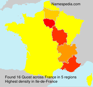 Surname Quost in France