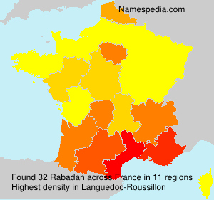 Surname Rabadan in France