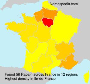 Surname Rabain in France
