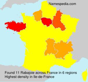 Familiennamen Rabajoie - France