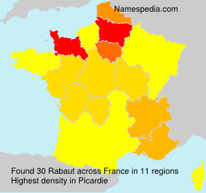 Surname Rabaut in France