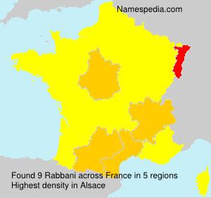 Surname Rabbani in France